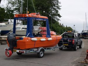 Pioner Workboat On Trailer for Towing